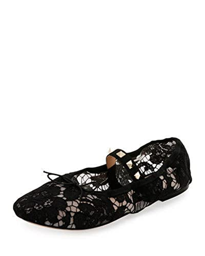 Valentino Rockstud Lace Ballet Flats outlet fake discount outlet free shipping new in China sale online prices LTY2G2prX