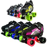 ATOM New Jackson Rave Indoor Rink and Speed Roller Skate - Available in 8 Vibrant Color Options - Free Devaskation Bracelet