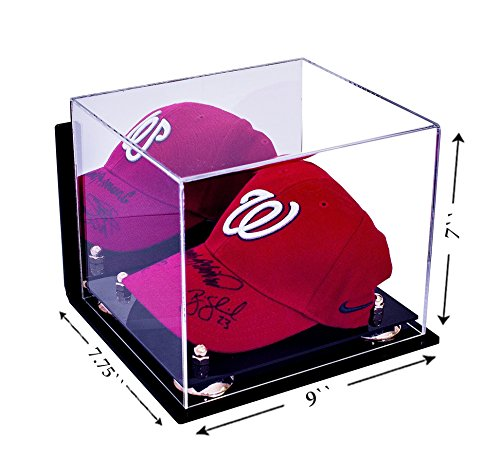 Deluxe Acrylic Baseball Cap Display Case With Gold Risers Mirror And Wall  Mount (A006 GR) Home Garden Household Supplies Storage Organization  Clothing ...