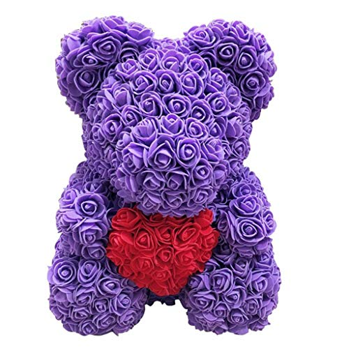 Handmade Decorative Rose Bear Teddy Bear Valentine's Day Anniversary Christmas for Send Couple Woman's Gift 14
