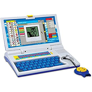 Kids Bazaar Educational Computer ABC and 123 Learning Kids Laptop with LED Display and Music
