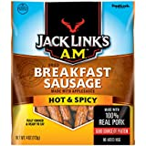 Link Snacks Jack Link's A.M. Breakfast Sausage, Hot & Spicy, 4 Ounce