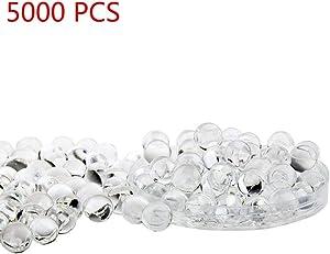 Candora 5000pcs Water Beads Crystals Mud Crystal Water Gel Beads Soil Beads Crystal Soil Plant Flower Jelly Crystal Soil Mud Water Pearls Gel Beads Balls for Kids Vases (Transparent)