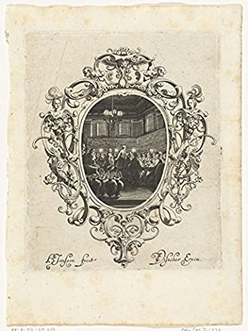 Classic Art Poster - Cartouche with heads, cherubs and masks, Hans Janssen, 1615 - before 1636 18