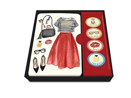 "Price comparison product image Studio Oh! 87215 ""Dress to Impress"" Notecard Set with Stickers (Box of 12)"