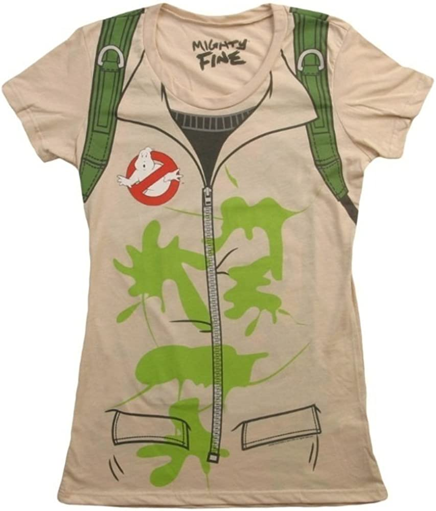 Mighty Fine Womens Ghostbusters Costume T-Shirt
