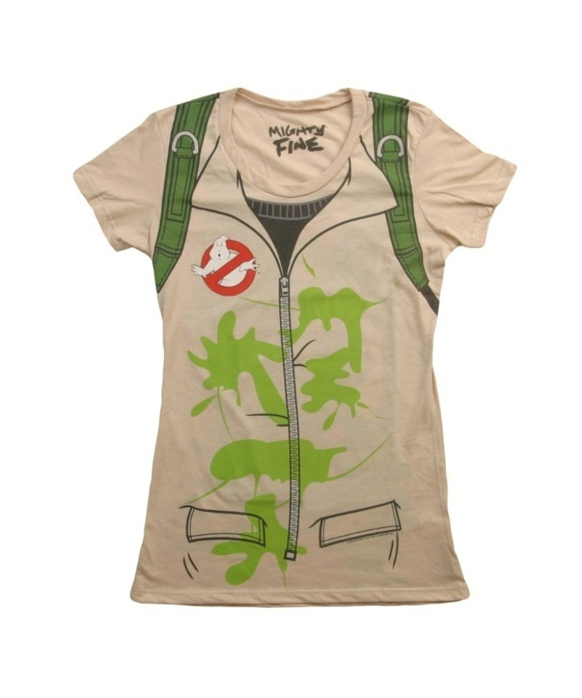 Mighty Fine Womens Ghostbusters Costume T-Shirt - XXL