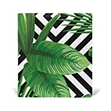 ColourLife Leather Book Covers for Textbooks Hardcovers Green Leaves School Books Protector 9 x 11 inches