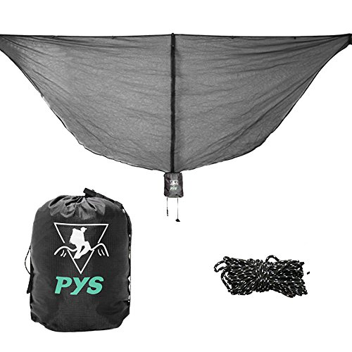 pys Hammock Bug Net Outdoor 11' Hammock Mosquito Net for 360° Mosquitos Protection, Fits ALL Camping Hammocks. Compact, Lightweight(12.95 oz). Fast Easy Setup. Essential Camping and Survival Gear by pys