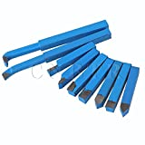 CNBTR 10mm Insert Lathe Turning Tool YT15 Alloy Carbide-Tipped Cutting Set Cutter Tools Bit Pack of 9