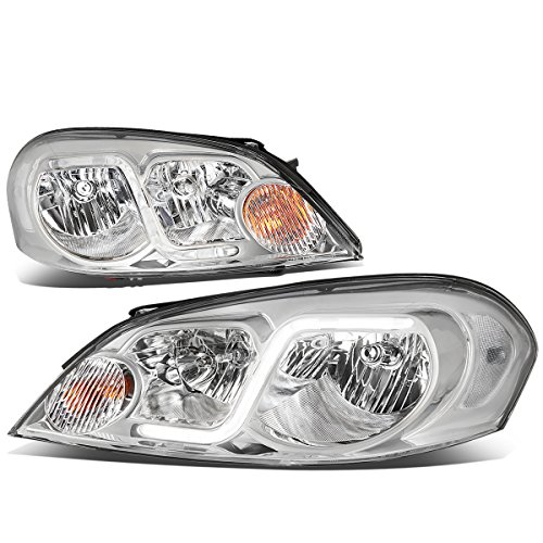 Chevy Impala Headlight (For Chevy Monte Carlo / Impala Limited Pair of Replacement Headlight Lamp ( Chrome Housing / Clear Corner ))