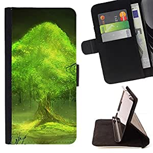 Jordan Colourful Shop - Trees world For Samsung Galaxy S3 Mini I8190Samsung Galaxy S3 Mini I8190 - Leather Case Absorci???¡¯???€????€??????