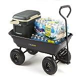 Gorilla Carts GOR200B Poly Garden Dump Cart with