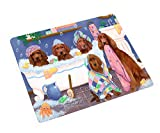 Doggie of the Day Rub A Dub Dogs in A Tub Irish Red Setters Dog Blanket BLNKT130584 (50x60 Plush)