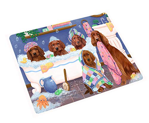 Doggie of the Day Rub A Dub Dogs in A Tub Irish Red Setters Dog Blanket BLNKT130584 (50x60 Plush) by Doggie of the Day (Image #3)