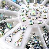 Neverland 3D Be Mixed Nail Art Tips Glitters Rhinestones Slice Decoration gems Crystal Wheel #6