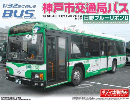 1/32 Kobe Transportation Authority (Hino Blue Ribbon II) (Model Car) Aoshima Bus|No.32 Aoshima Bus