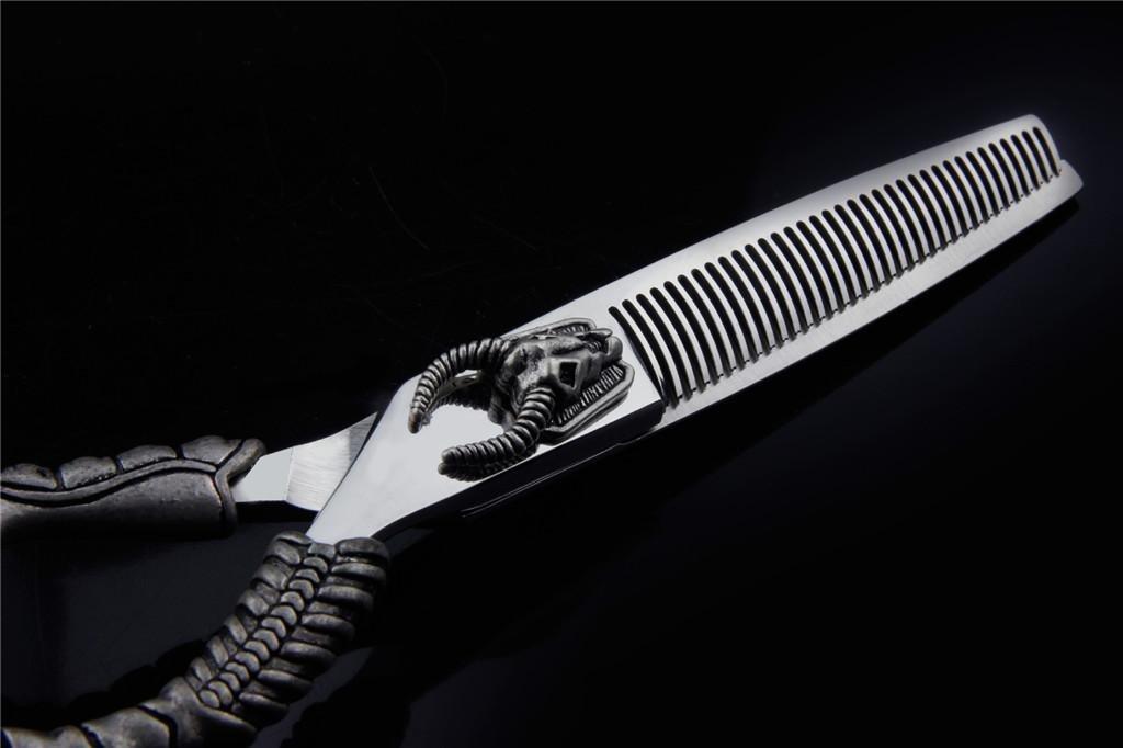HJXJXJX Juego de peluquería tijeras de pelo y tijeras de peluquería de de adelgazamiento, jugando Thin Cut 6.0inch Presentación caso , B 5cfe35