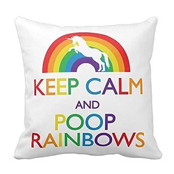 Amazon.com: Keep Calm And caca Rainbows unicornio, para el ...