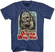 Star Wars Chewbacca Original Wing Man Furry Flyer Mens Navy Heather T-shirt