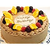 (ロリアン)お誕生日ケーキ ベルギー産 クーベルチョコ使用 生チョコケーキ 6号(直径19cm 高さ7cm)