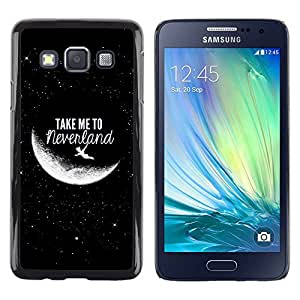 Design for Girls Plastic Cover Case FOR Samsung Galaxy A3 Take Me To Moon Sky Cosmos Love OBBA