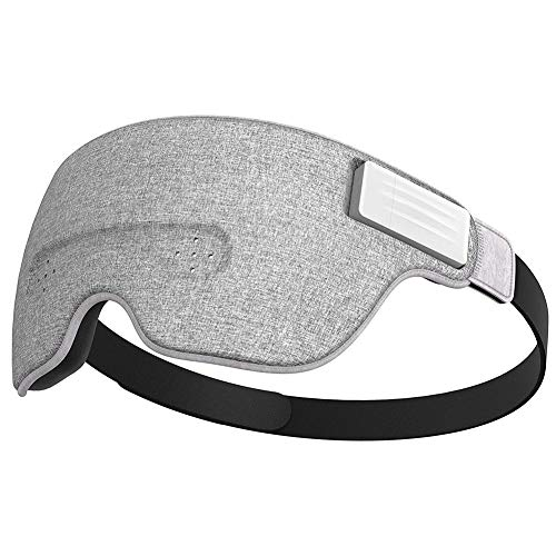 QLPP Brain Sensing Bluetooth Smart Sleep Mask Built-in Music/Sounds, Wireless Connection to Most Devices with EEG and AI…