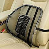 Mesh Lumbar Back Brace Support Cushion Cool for Office Home Car Seat Chair Black