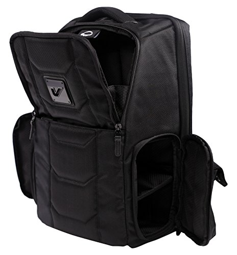 Gruv Gear Club Bag Elite  Flight-Smart Tech Backpack, Stealth Black - Leather Backpack Tech