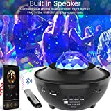 Laser Star Projector, Galaxy Nebula Light Projector with Remote Control, LED Night Light with Bluetooth Music Speaker for Badroom, Kids Adults Room Decoration