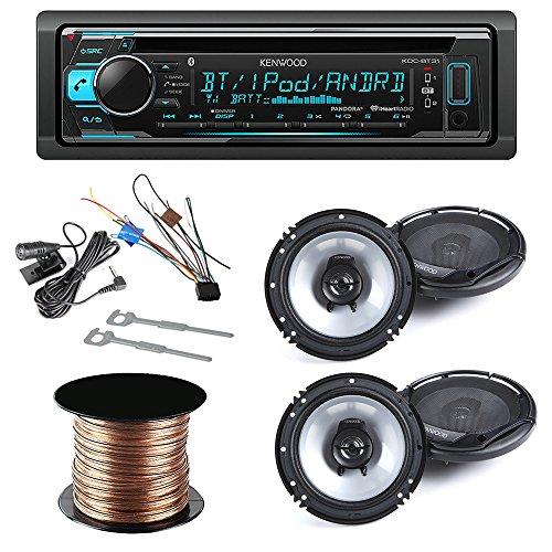 [Kenwood KDC-BT31 Single DIN Bluetooth In-Dash CD/AM/FM Car Stereo Receiver + (2x)Kenwood KFC-1665S 60W 6.5