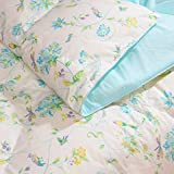 FUANNA Printed Floral Machine Washable Down Comforter - King