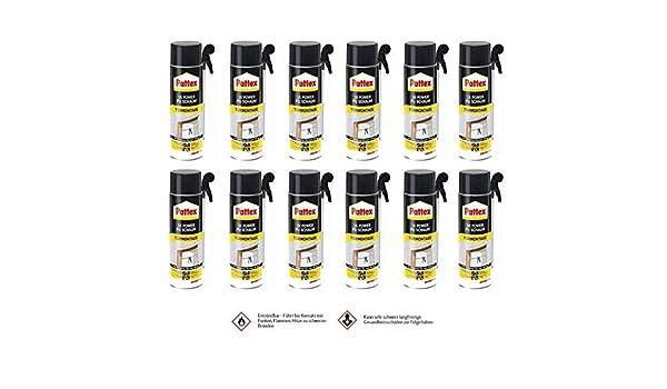 12 x Pattex 1 K Power de espuma de poliuretano - Puertas y bastidor 500 ml - Puerta hojas de hasta 40 kg: Amazon.es: Bricolaje y herramientas