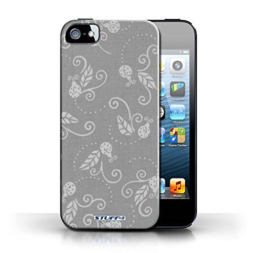 Etui / Coque pour Apple iPhone 5/5S / Gris conception / Collection de Motif Coccinelle