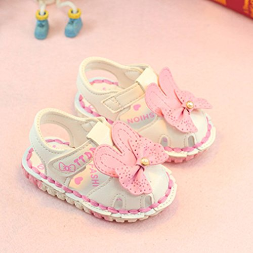 Zhhlinyuan Fashion Kids Toddler Soft-Soled Princess Shoes Hollow Flowers Sandals White