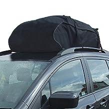 TIROL® Water Resistant Roof Bag Roof Top Cargo Carrier (15 Cubic Feet)