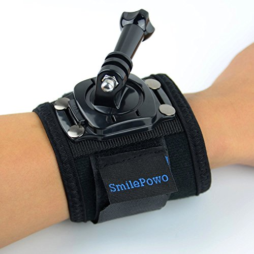 SmilePowo 360 Degree Rotatable ARM Wrist Strap  for Gopro Hero3/3+/4,Hero4 Session,Hero5 Black,Hero5 Session,Accessories,Black