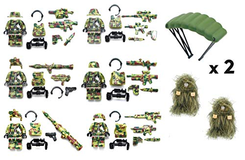 Magma Brick Soldier Special Force Army Camouflage Forest Compatible with Major Brand Building -