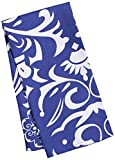 LinenTablecloth Navy Blue and White Vintage Royalty Kitchen Towels, 2-Pack