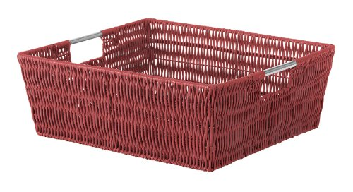 Whitmor Rattique Shelf Tote (Metal Rattan Baskets)