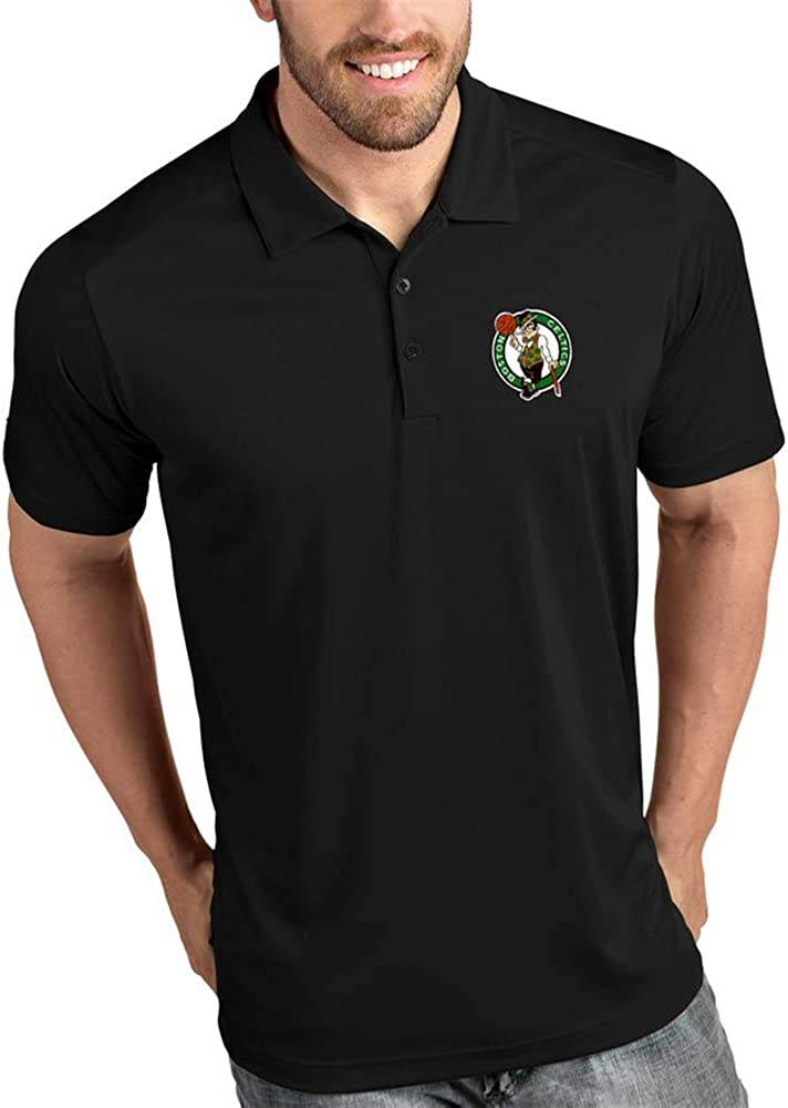 Polo De Los Hombres De Negocios De La Solapa De La Camiseta De Boston Celtics Al Aire Libre Ocasional Media Manga