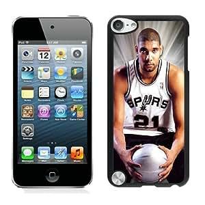 New Custom Design Cover Case For iPod Touch 5th Generation San Antonio Tim Duncan 2 Black Phone Case