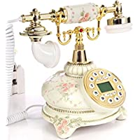 AMYDREAM Antique telephone retro,New fashion european home landline vintage creative pastoral luxury Cart Decorative telephone-A 20x26cm(8x10inch)