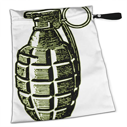 Amry Grenade Art Tote Travel Accessories Size Happens Reusable Laundry Beach Toddler Dry Bag for Workout Swim Wet Kid Baby Gym Clothes Cloth Diaper - Roses Grenade