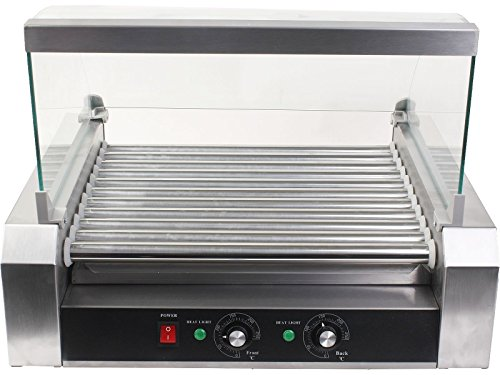 Commercial 30 Hot Dog 11 Roller Grill Cooker Machine With cover CE