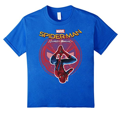 Marvel Spider-Man Homecoming Hanging Upside Down T-Shirt