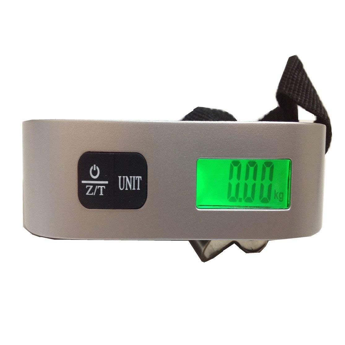 GY-014 50kg balance /électronique portable de bagages balance de voyage portable Gy-014 T balance portable de bagages 50kg r/étro/éclairage Kaemma Couleur: Argent