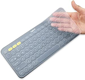 Silicone Keyboard Cover for Logitech Bluetooth Multi - Device Keyboard Cover K380 (Model: K380) Ultra Thin Protective Skin (for Logitech K380, Clear)