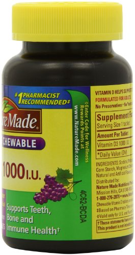 Nature Made Grape Chewable Vitamin D