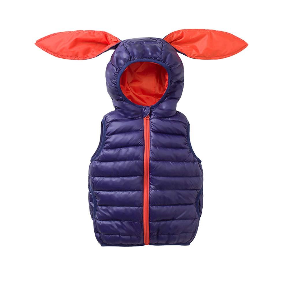 ALLAIBB Little Toddler Kids Hooded Gilet Waterproof Autumn Winter Cotton Jacket Zipper Outfit
